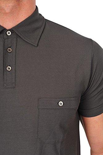 Zanone Polo Poloshirt Herren Braun Regular Fit Baumwolle Casual 52