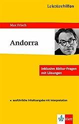 Lektürehilfen Andorra. Ausführliche Inhaltsangabe und Interpretation