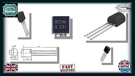 BC546B NPN Silicon Transistor-Pack de 10-BC546