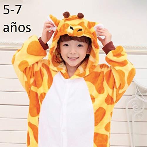 4800e02674 KRAZY TOYS Pijama Animal Entero Unisex para Niños como Ropa de Dormir-Traje  de Disfraz para Festival de Carnaval (Girafa