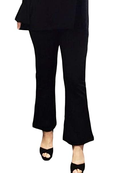 f8dee05c10541 Wofupowga Women Casual Plus Size Bootcut High Rise Stretchy Spring Pants at  Amazon Women s Clothing store