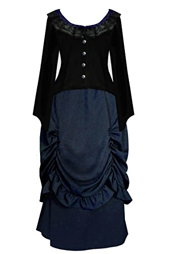 Cykxtees Victorian Steampunk Gothic Civil War Theater Women's Top & Skirt (2X, (Exquisite Fit Lace Up Corset)