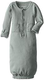 L\'ovedbaby Unisex-Baby Organic Cotton Gown, Seafoam, 0/3 Months