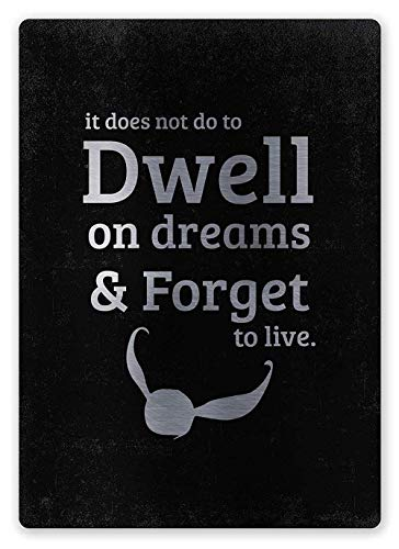 Dwell On Dreams Forget to Live Tin Signs Vintage Iron Painting Wall Decor Metal Plaque Poster Warning Sign Art for Bar Cafe Bedroom Cafeteria