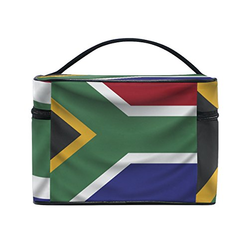 South Africa Flag Travel Makeup Toiletry Organizer Case Cosmetic Bag by super3Dprinted