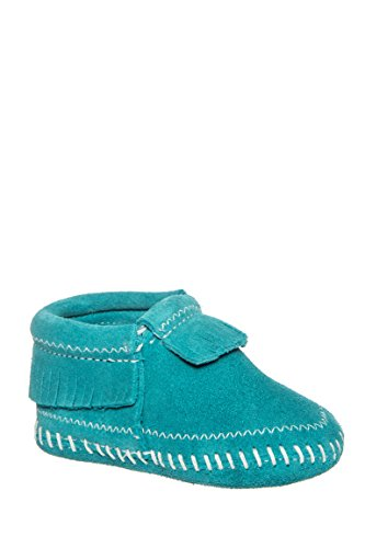 Nevada Turquoise - Minnetonka Infant-Girls' Riley Moccasin Booties Turquoise 6 M US