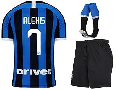 Fimng Alexis Sánchez #7 2019-2020 Inter Milan Kids/Youths Home Soccer Jersey/Short/Socks Colour Blue/Black