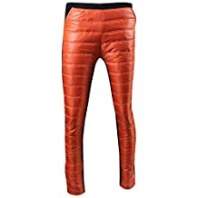 Womens Winter Thicken Patchwork Warm Down Velvet Wadded Pants Trousers Leggings