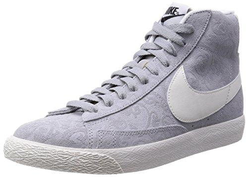 Nike Blazer Mid PRM Vintage Uomo US 9.5 Grigio Scarpe ginnastica