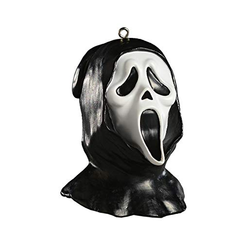 HorrorNaments Ghost Face Head Horror Ornament - Scary Prop and Decoration for Halloween, Christmas, Parties and Events -
