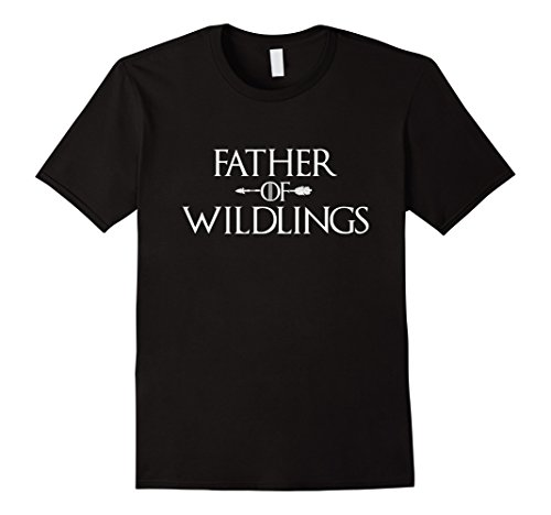 Mens Funny Saying Father of Wildlings Dad T-Shirt XL Black - Wildlings Costume