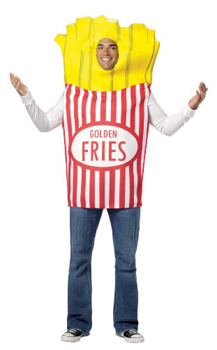 Rasta Imposta French Fries Adult, Multi, One Size (French Fry Costume Kids)
