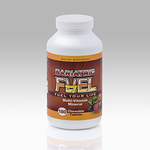 Bariatric Fuel- Complete Multivitamin with Iron Chewable- Fruit Punch Flavor- 3 Month Supply (180 tablets)- GREAT TASTE! Bariatric Surgeon recommended formulation! 100% SATISFACTION GUARANTEE! by Bariatric Fuel