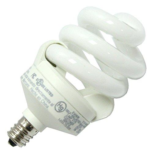 Eurus TCP 48909C CFL Candelabra Base Torpedo - 40 Watt Equivalent (9W) Soft White (2700K) Decorative Chandelier Light Bulb (1 Pack) - 9w Candelabra