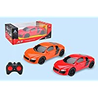 """HRK XF Remote Controlled 4 Function Remote Car can go Forward Backward Left Right"""" Racing Sports Car, Remote car for Kids ( Assorted Colors ) Battery not Included ]"""