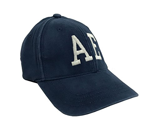 American Eagle Baseball Hat (American Eagle Outfitters Pale Blue w/White AE Logo Adult Baseball Cap S/M)