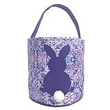 MONOBLANKS Kids Easter Egg Hunt Basket Party Candy Bag Fancy Purple Deal (Small Image)