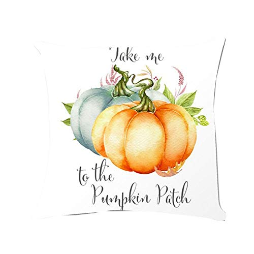 CHIDY Square Zipper Halloween Pumpkin Pillow Cases Linen