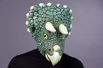 Puesto máscara de dinosaurio