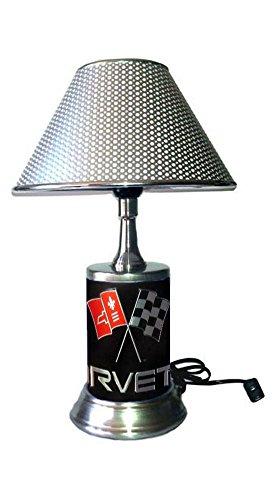 Corvette Lamp with chrome shade