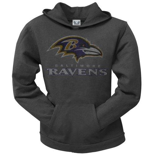 Baltimore Ravens - Old School Logo Juniors Hoodie Medium Grey