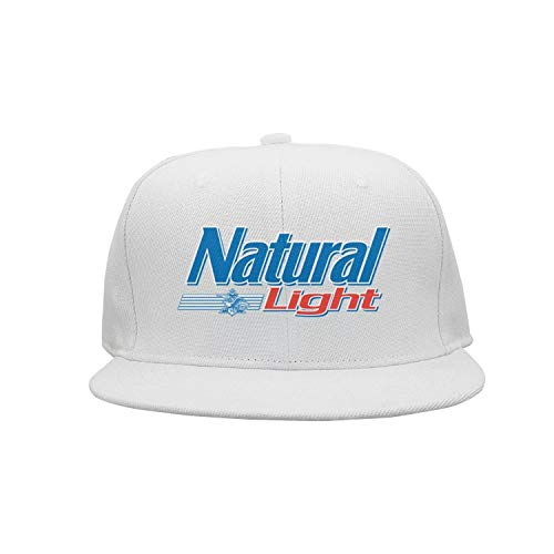 uter ewjrt Adjustable Natural-Light-Logo-Beer- Sun Hats Fitted New Cap (Natural Logo Light)