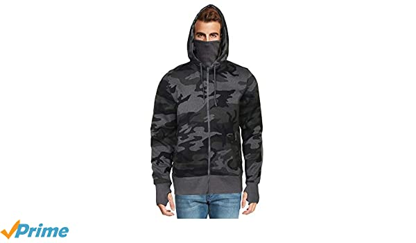 Men's Fleece Full Zip Ninja Hoodie by 9 Crowns Essentials
