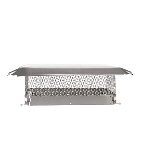 Draft King SSC1721U Bolt On Stainless Steel Single Flue Chimney Cap for Use in California and Oregon