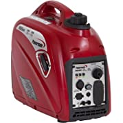 Powermate PM0152000 2000 Watts Portable Inverter Generator, Gasoline Powered, 1.2 gallons Fuel Capacity, 12 Hours...
