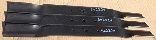 - King Kutter 6' Finish Mower Blades Set of Three (3) 502324
