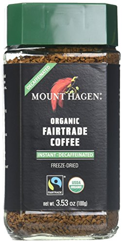 Mount Hagen Organic Freeze Dried Instant Decaffeinated Coffee, 3.53-Ounce Jars (Pack of 6) by Mount Hagen