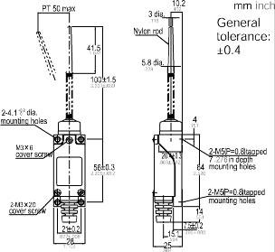 Suns International AZ-8166 AZ8 Series Flexible Rod Actuator Snap Action Compact Limit Switch - 1 Item(s)