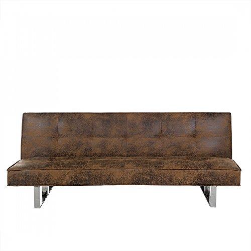 Divano letto marrone divano in pelle sofa 3 posti - Divano letto 2 posti amazon ...