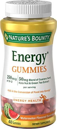 Nature's Bounty Energy Complex Gummies, 250 MCG, 60 Count