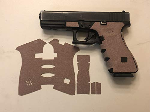 (Handleitgrips FDE Sandpaper Gun Grip Tape Wrap for Glock 17 and 22 Gen 5)