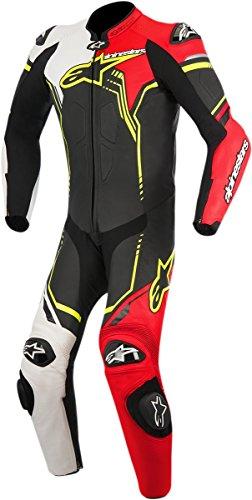 Alpinestars Men's GP Plus Leather Suit(Black/White/Red/Yellow,EU 50)
