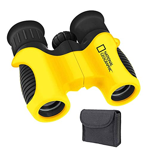 ExploreOne Nationol Geographic Shock Proof 6x21 Kids Binoculars Set with High Resolution Real Optics - Bird Watching - Birthday Presents - Gifts for Children - Outdoor Play - Toys for Boys and Girls