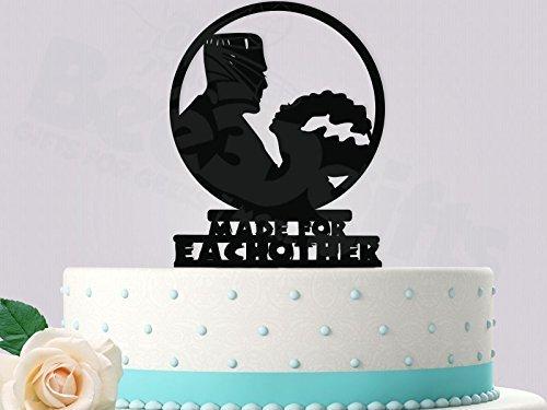 (Frankenstein and Bride Wedding Cake Topper Made for)