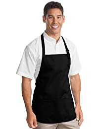 Port Authority Medium Length Apron with Pouch Pockets>One size Black A510