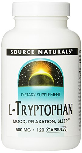 Source Naturals L-Tryptophan 500mg, 120 Capsules