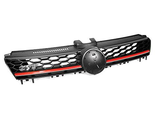 2015+ VW MK7 Golf/GTI Lighting Package High Bar Grille - Black w/ Red Trim
