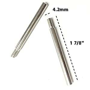 2 Pieces Fit Singer Kenmore Japanese Sewing Machine Metal Screw-in Drive-in Spool Pins Thread Holder Domestic Home Sewing Machine Spare Part from Beady & Crafty