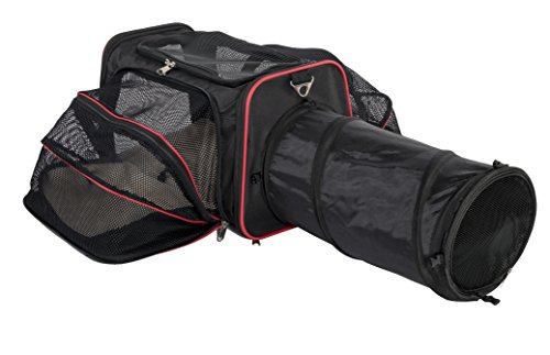 (Expandable Pet Carrier with Tunnel by Pet Peppy - Patent Pending …)