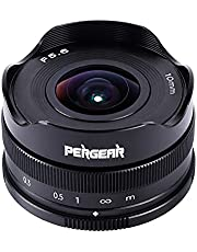 Pergear 10mm F5.6 Fisheye Lens,Compatible with APS-C Fuji X-Mount Cameras X-E1 X-E2 X-E3 X-T1 X-T2 X-T3 X-T4 XT-10 X-T20 X-T30 X-PRO1 X-PRO2