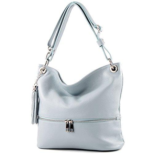 sac cuir en cuir épaule de Eisblau en ital T143 dames sac sac d'épaule modamoda IUFRvqTwxT