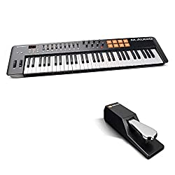 M-Audio Oxygen 61 IV | 61-Key USB/MIDI Keyboard With 8 Trigger Pads & A Full-Consignment of Production/Performance Ready Controls and Sustain Pedal Included