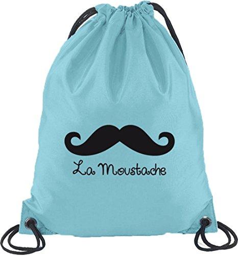 À Dos Sac Et Mustache Sport De Moustache Shirtstreet24 La Bleu Clair 0a7w8qn