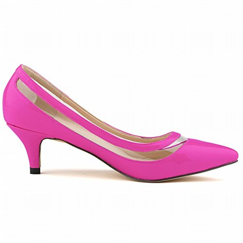 24XOmx55S99 Classic Pointed High Heel Toe Women Slip Purple Closed Shoes SqSwrd01xI