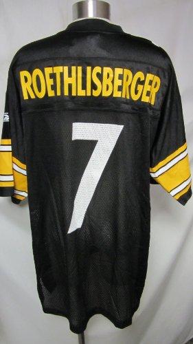 Reebok Pittsburgh Steelers Ben Roethlisberger Replica Team Color Jersey, X-Large