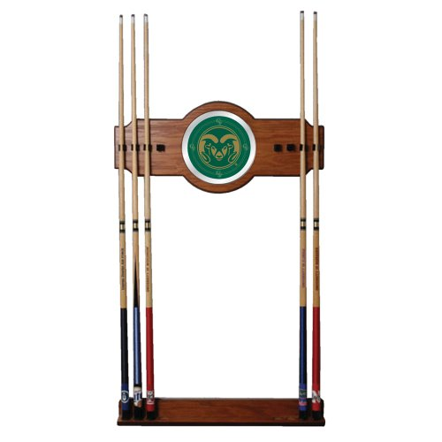 NCAA Colorado State University Billiard Cue Rack with Mirror by Trademark Gameroom